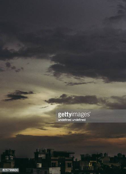 Portrait shot of dramatic skyscape