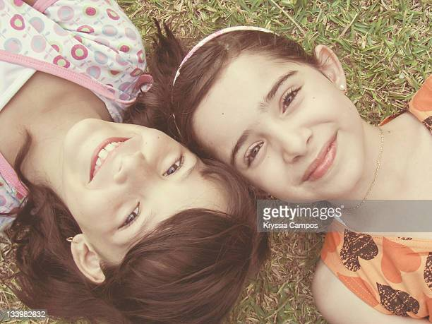 Portrait smiling girls