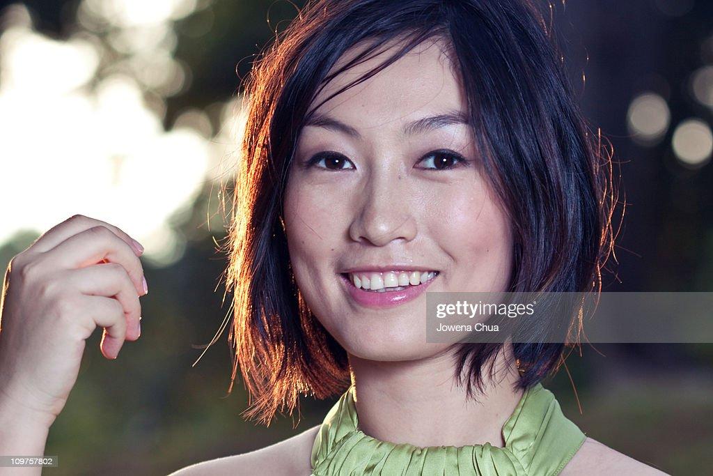 Portrait smiling woman : Stock Photo