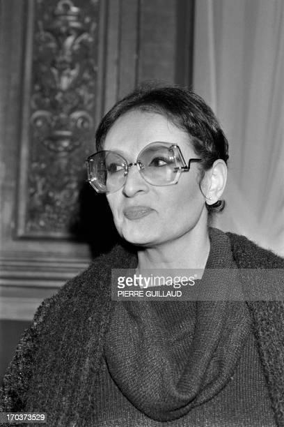 A portrait taken on December 22 1982 shows French singer Barbara in Paris AFP PHOTO PIERRE GUILLAUD