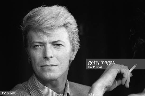 A portrait taken on May 13 1983 shows British singer David Bowie during a press conference at the 36th Cannes Film Festival He is the main actor in...
