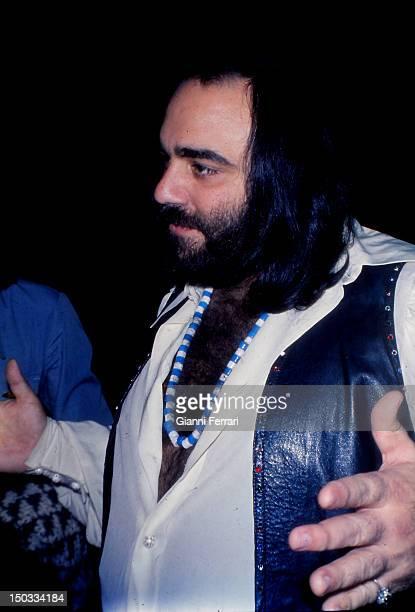 Portrait the Greek singer Demis Roussos Madrid Spain