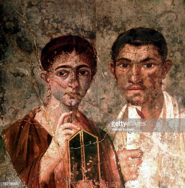 The Lawyer Terentius Neo and his wife Italy Roman