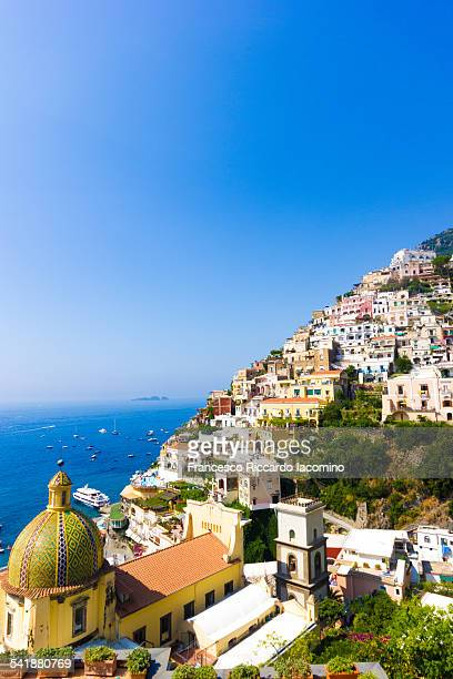Portrait view of Positano, Amalfi Coast