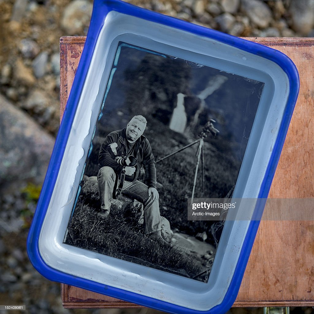 Portrait, Wet plate- Collodion Process : Stock Photo
