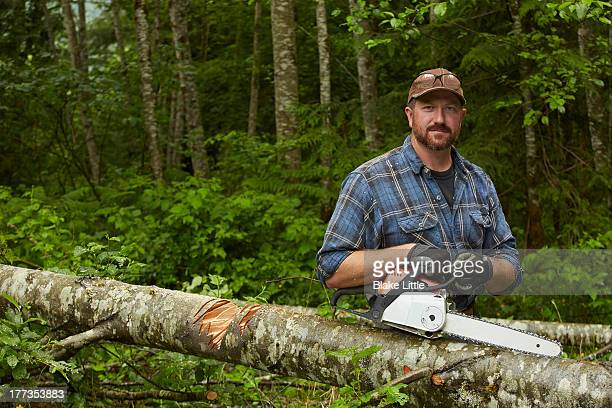 Portrait with Chainsaw