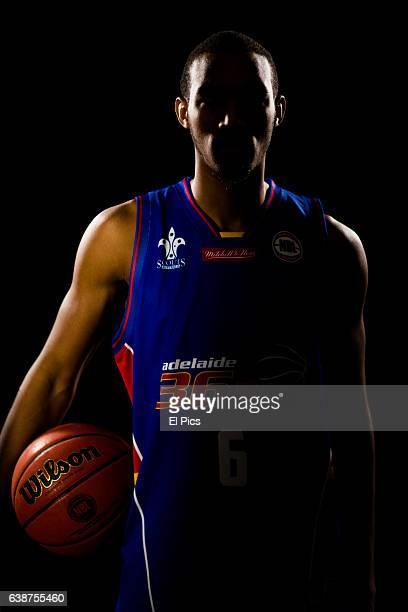 Portrait with Terrance Ferguson Adelaide 36's 2016 team whilst at NBL press day on September 22 2016 in Sydney Australia