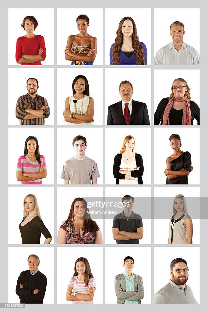 Portraits of a social networking community : Stock Photo