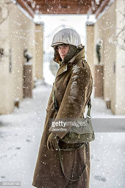 Portraits of a WWII Infantryman in the Snow