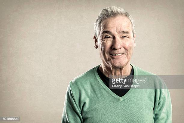 Portraits of an Elderly Man - Expressions -  Happy Smiling