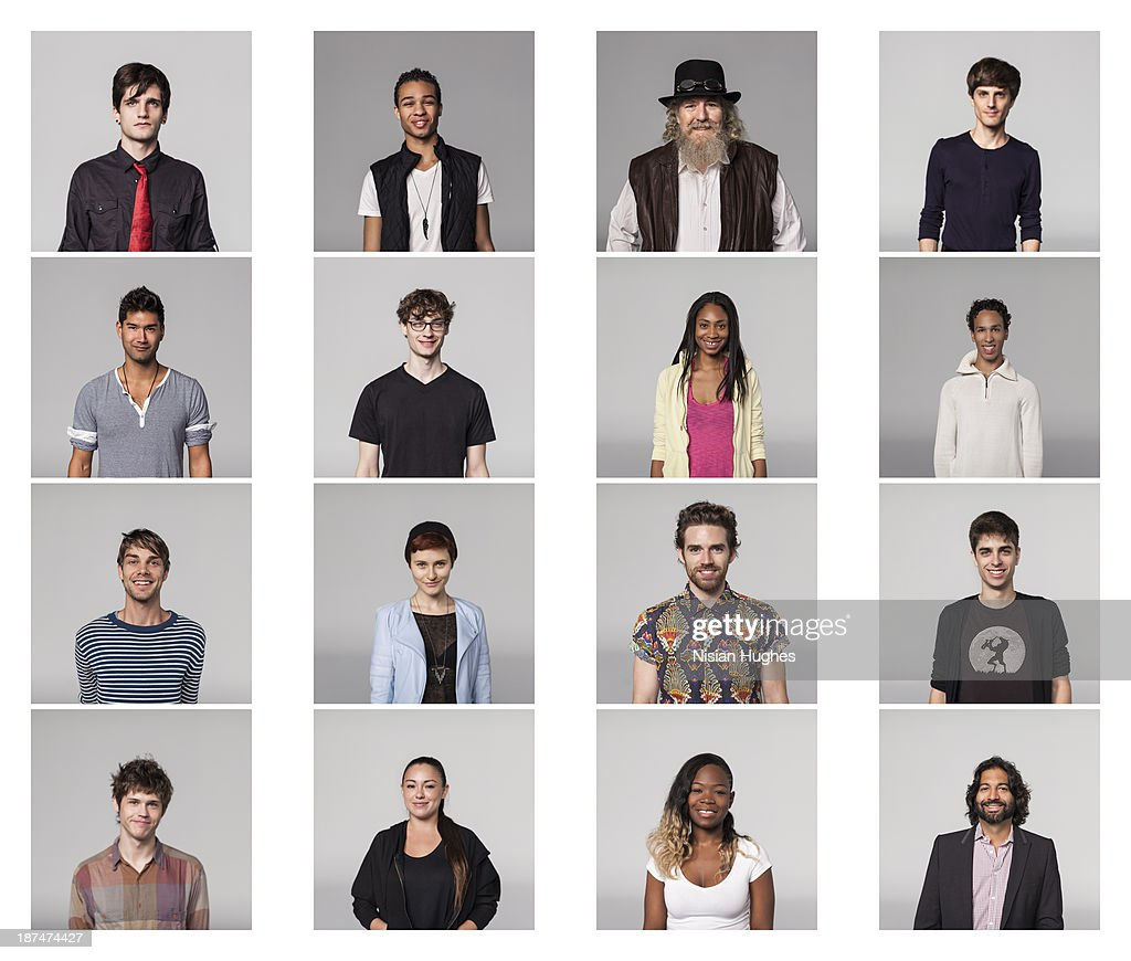 portraits of Group of people : Stock Photo