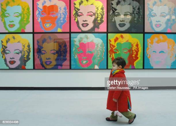 Portraits of Marilyn Monroe by Andy Warhol on show at Christie's in London where they will go on sale on February 8 2006 as part of a sale of post...