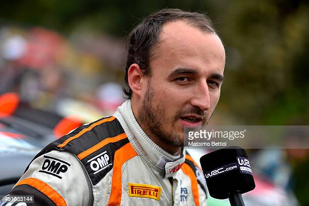 Portraits of Robert Kubica of Poland in the regrouping of Corte during Day One of the WRC France on October 2 2015 in Ajaccio France