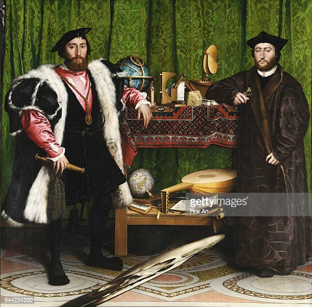 Portraits of the French ambassador Jean de Dinteville and Georges de Selve Bishop of Lavaur Oil on oak 1533 207 x 2095 cm Located in the National...