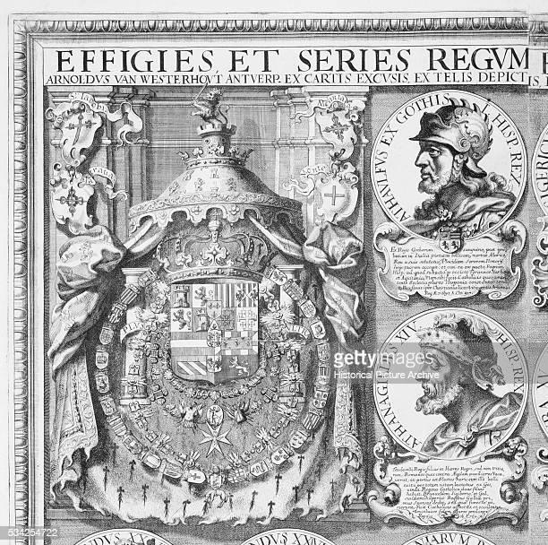 Portraits of the Visigothic kings Athaulf and Athanagild