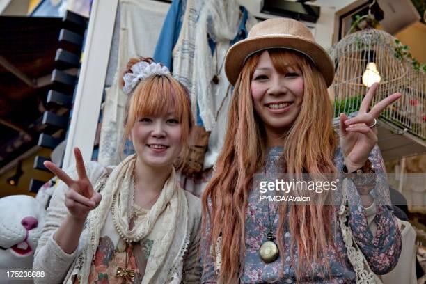 Portraits of two Mori Girls in Harajuku Tokyo 2010