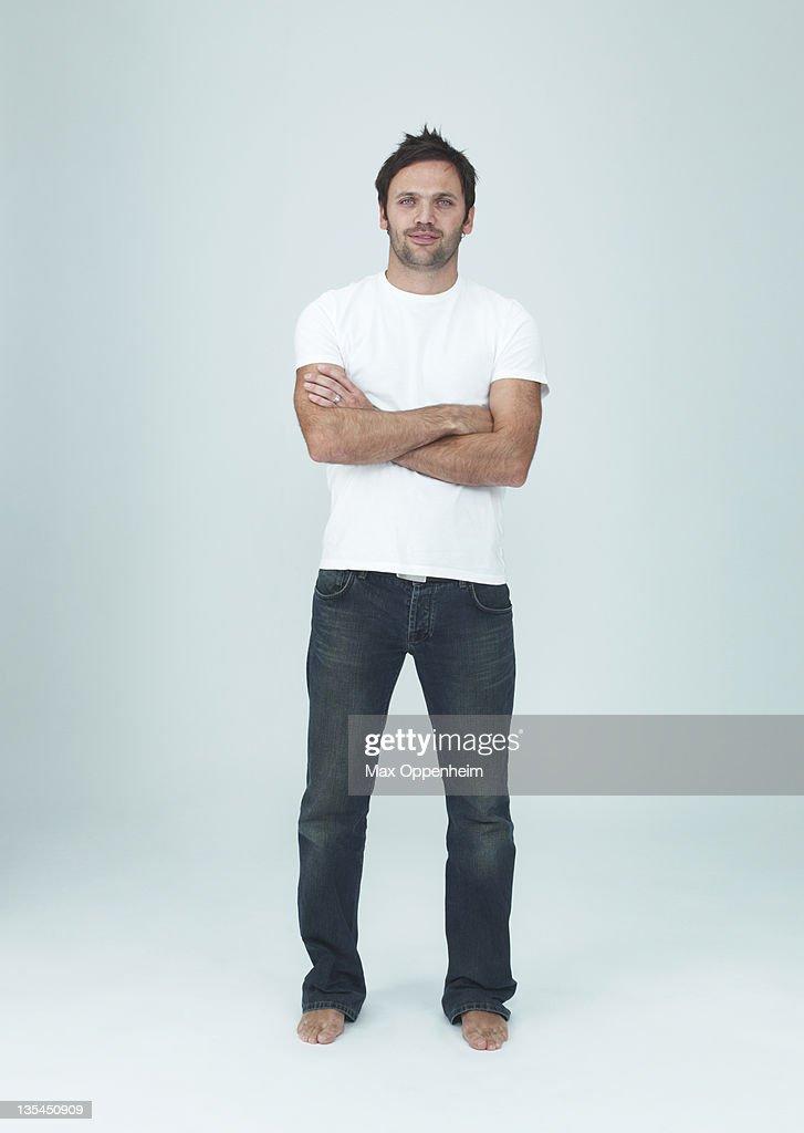 Portraits on white : Stock Photo
