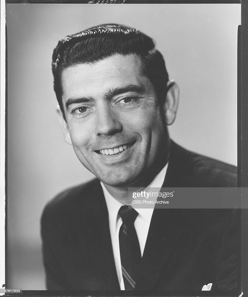 Portrat of American television journalist Dan Rather, 1962.