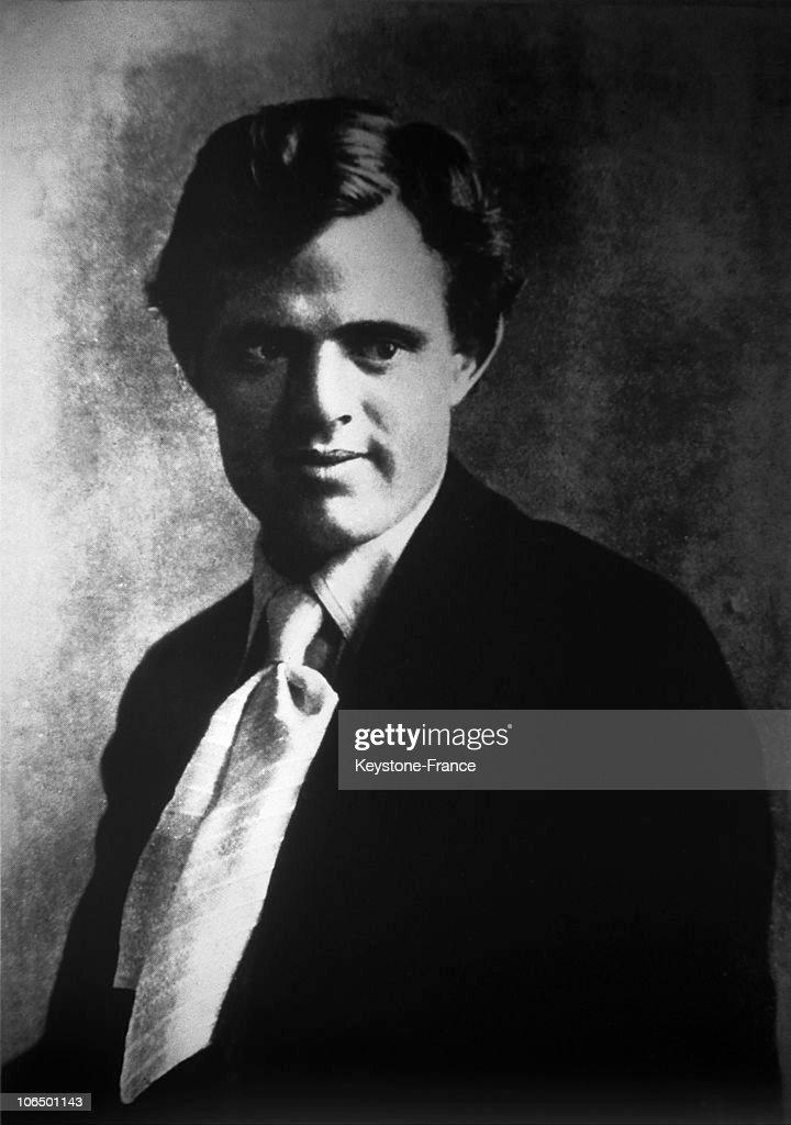 Portrati Of American Writer Jack London Around 1910