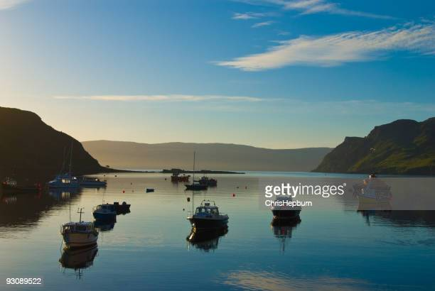 Portree Harbor Sunrise, Isle of Skye, Scotland