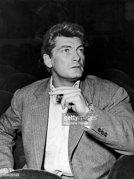 Portrrait Of Jean Marais Smoking A Cigarette