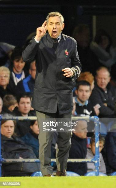 Portsmouth manager Guy Whittingham during the Sky Bet Football League Two match at Fratton Park Portsmouth