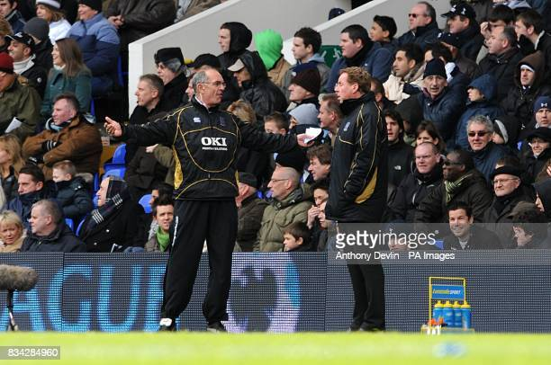 Portsmouth manager Harry Redknapp and assistant manager Joe Jordan on the touchline
