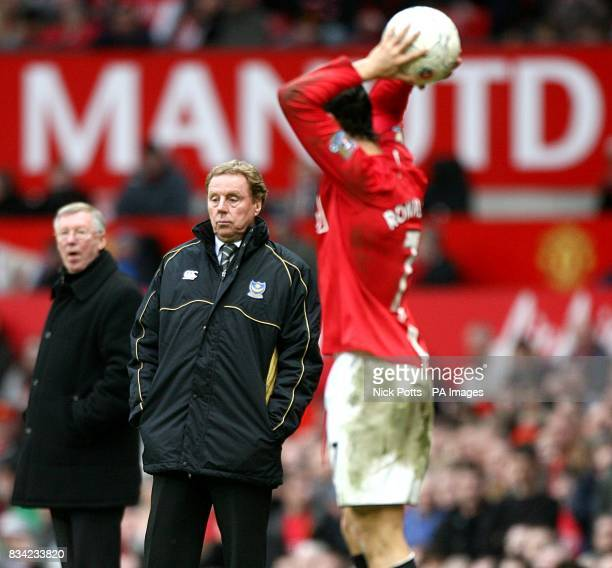 Portsmouth manager Harry Redknapp and Manchester United manager Alex Ferguson on the touchline