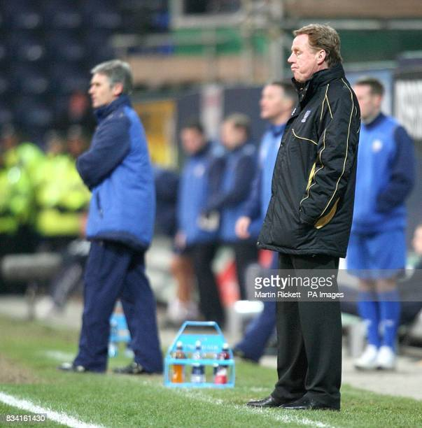 Portsmouth manager Harry Redknapp and Preston North End manager Alan Irvine on the touchline