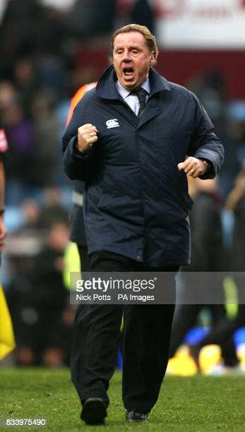 Portsmouth manager Harry Redknapp celebrates after the match