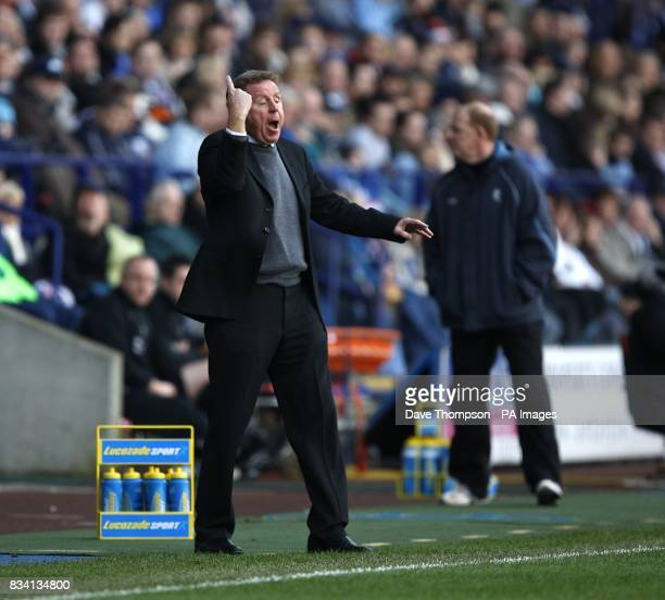 Portsmouth manager Harry Redknapp gestures on the touchline