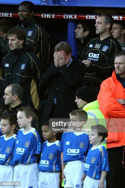Portsmouth manager Harry Redknapp on the touchline before the game