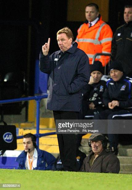 Portsmouth manager Harry Redknapp on the touchline during the match