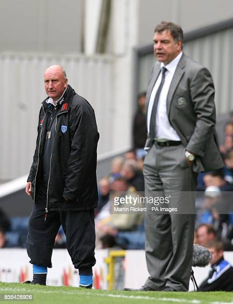 Portsmouth manager Paul Hart and Blackburn Rovers Sam Allardyce together on the touchline