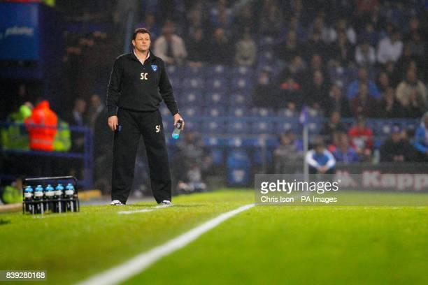 Portsmouth manager Steve Cotterill on the touchline