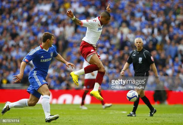 Portsmouth's KevinPrince Boateng in action with Chelsea's Branislav Ivanovic