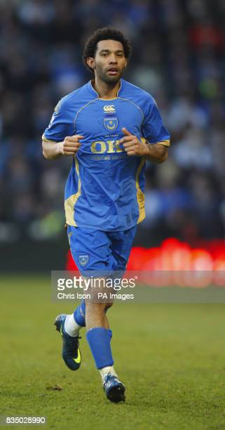 Portsmouth's loan signing Jermaine Pennant in action against Swansea during their FA Cup 4th round match at Fratton Park Picture date Saturday...
