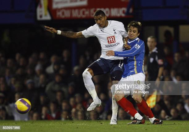 Portsmouth's Niko Kranjcar and Tottenham Hotspur's KevinPrince Boateng battle for the ball