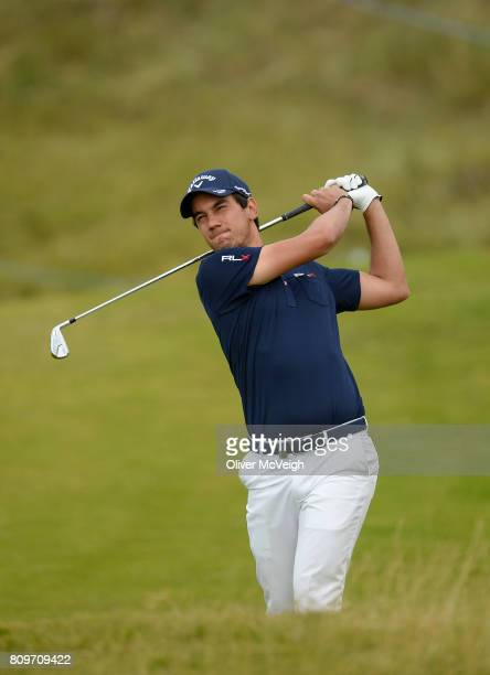 Portstewart United Kingdom 6 July 2017 Matteo Manassero of Italy on the 7th hole during Day 1 of the Dubai Duty Free Irish Open Golf Championship at...