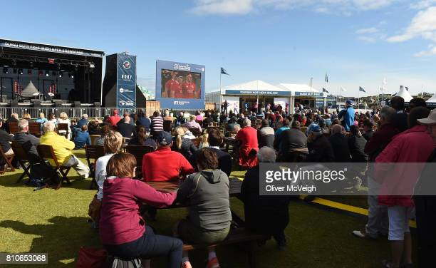 Portstewart United Kingdom 8 July 2017 A general view of the large crowd in the Championship village watching the Brisish and Irish lions game againt...