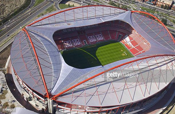 Aerial view taken in November 2003 of the Estadio da Luz in Lisbon the stadium of the Benfica football club The stadium will host 65000 football fans...
