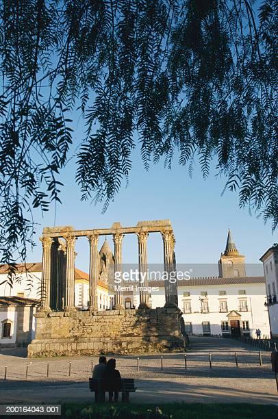 Portugal, Alentejo, Evora, Temple of Diana, Apr 2003