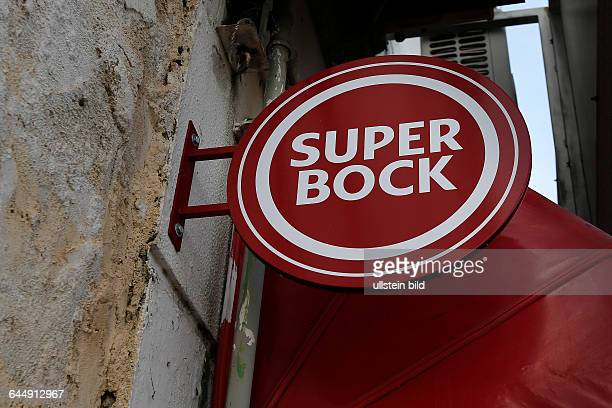 Portugal Algarve Aljezur Altstadt Werbeschild Super Bock Bier Biermarke aus Portugal
