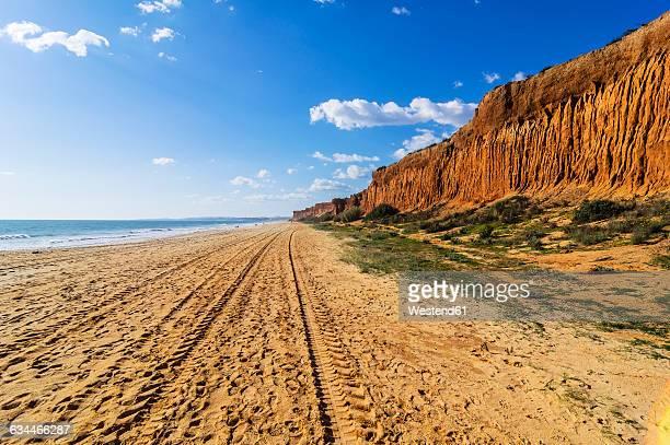 Portugal, Algarve, Vilamoura, cliff coast, beach Praia da Falesia
