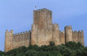 Portugal Almourol castle and Tagus river