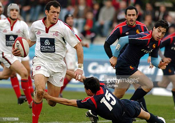 Portugal and Spain during a Six Nations Championship match for the Rugby European Nations Cup in Lisbon Portugal on February 3 2007