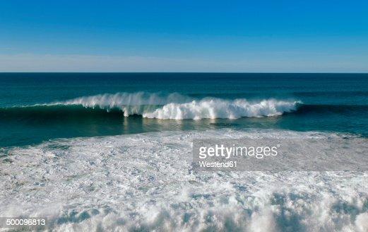 Portugal, Azores, Sao Miguel, Atlantic Ocean, wave