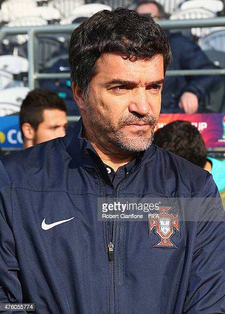 Portugal coach Helio Sousa is seen during the FIFA U20 World Cup New Zealand 2015 Group C match between Colombia and Portugal at Otago Stadium on...