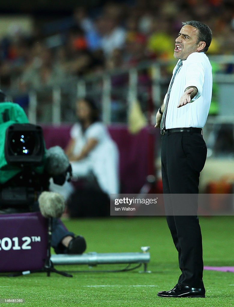 Portugal coach <a gi-track='captionPersonalityLinkClicked' href=/galleries/search?phrase=Paulo+Bento&family=editorial&specificpeople=2076425 ng-click='$event.stopPropagation()'>Paulo Bento</a> reacts during the UEFA EURO 2012 group B match between Portugal and Netherlands at Metalist Stadium on June 17, 2012 in Kharkov, Ukraine.