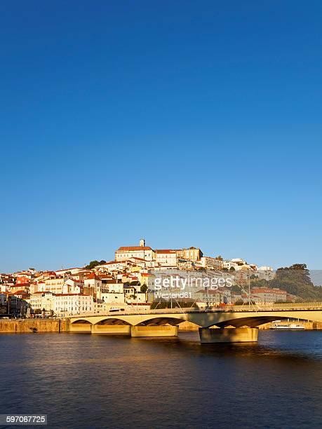 Portugal, Coimbra, historical old town, Mondego river and bridge Santa Clara